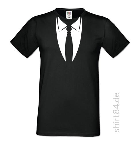 Kragen mit Krawatte T-Shirt, Schwarz, Sofspun T-Shirt - shirt84.de ... bfbe4b9d75