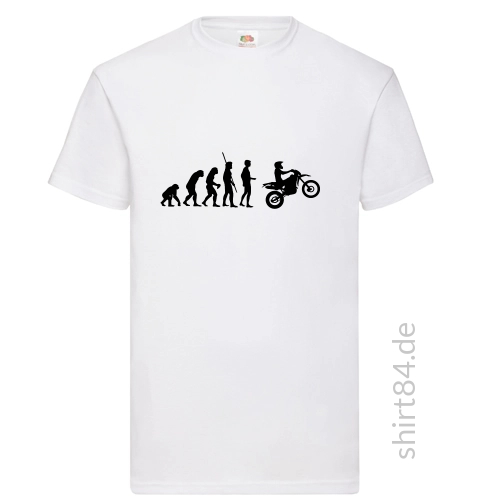 Evolution Enduro weißes T-Shirt