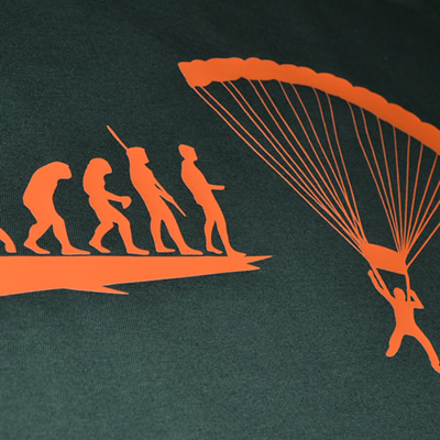 Evolution Fallschirmspringer T-Shirt
